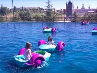 Barcas infantiles. Parque Europa. Madrid.