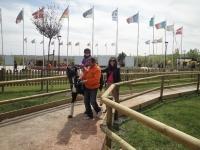 Paseo en poni. Parque Europa. Madrid