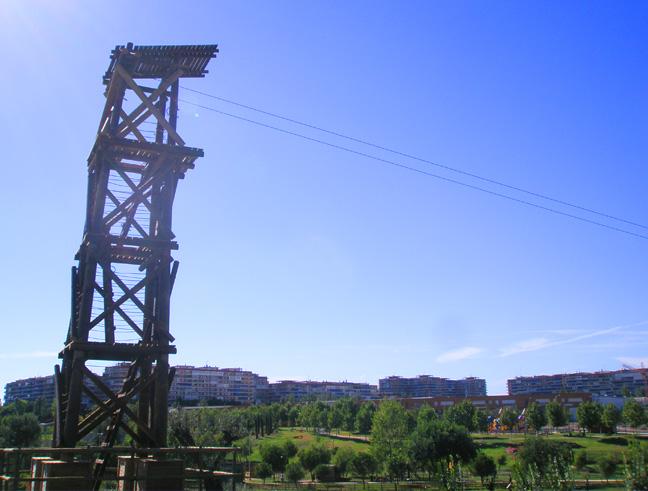Gran tirolina Parque Europa