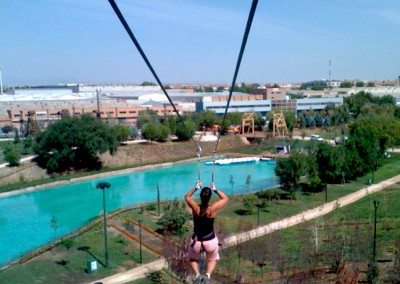 Colegios Parque Europa Madrid. Gran Tirolina cumpleaños