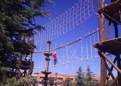 Multiaventura Tirolina Rocodromo Madrid Parque Europa empresas cumpleaños colegios ocio