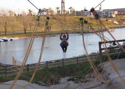Gran Tirolina Parque Europa  madrid multiaventura park cumpleaños colegios empresas