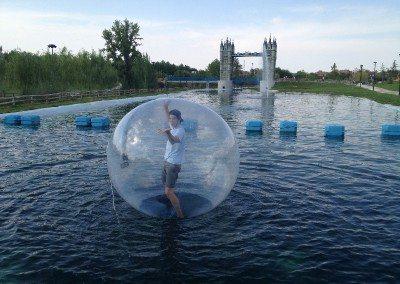 Bolas rulos acuaticas parque europa madrid