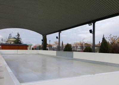 Pista de hielo sintético en Madrid