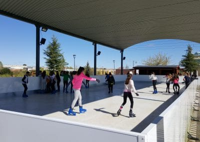 pista patinaje hielo sintetico madrid cumpleaños colegios ocio